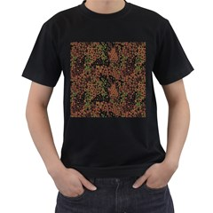 Digital Camouflage Men s T Shirt (black) (two Sided)