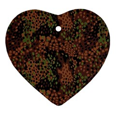 Digital Camouflage Heart Ornament (two Sides)