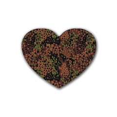 Digital Camouflage Heart Coaster (4 Pack)