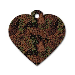 Digital Camouflage Dog Tag Heart (two Sides)