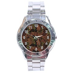 Digital Camouflage Stainless Steel Analogue Watch