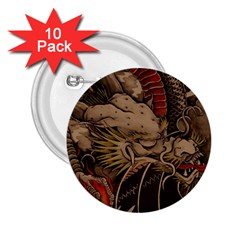 Chinese Dragon 2 25  Buttons (10 Pack)