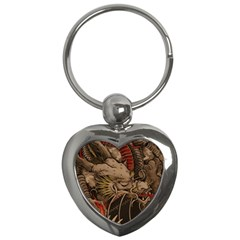 Chinese Dragon Key Chains (heart)