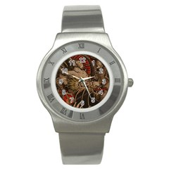 Chinese Dragon Stainless Steel Watch