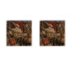 Chinese Dragon Cufflinks (square)