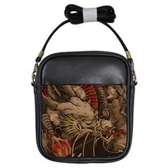 Chinese Dragon Girls Sling Bags