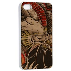 Chinese Dragon Apple Iphone 4/4s Seamless Case (white)