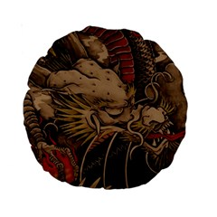 Chinese Dragon Standard 15  Premium Round Cushions