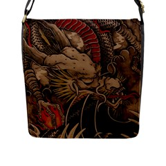 Chinese Dragon Flap Messenger Bag (l)
