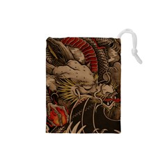 Chinese Dragon Drawstring Pouches (small)