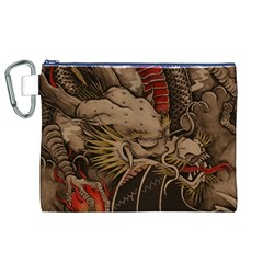 Chinese Dragon Canvas Cosmetic Bag (xl)