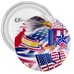 United States Of America Usa  Images Independence Day 3  Buttons
