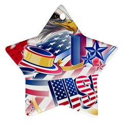 United States Of America Usa  Images Independence Day Ornament (star)