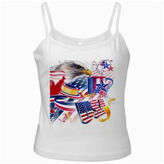 United States Of America Usa  Images Independence Day White Spaghetti Tank