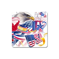 United States Of America Usa  Images Independence Day Square Magnet