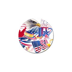United States Of America Usa  Images Independence Day Golf Ball Marker (10 Pack)
