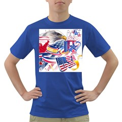 United States Of America Usa  Images Independence Day Dark T Shirt