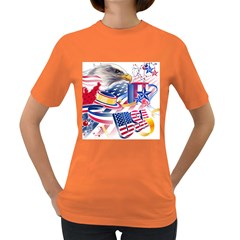 United States Of America Usa  Images Independence Day Women s Dark T Shirt