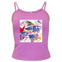 United States Of America Usa  Images Independence Day Dark Spaghetti Tank
