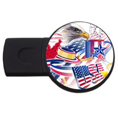 United States Of America Usa  Images Independence Day Usb Flash Drive Round (4 Gb)