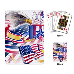 United States Of America Usa  Images Independence Day Playing Card