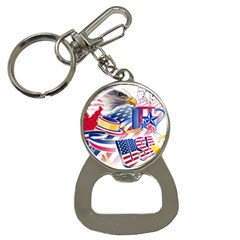 United States Of America Usa  Images Independence Day Button Necklaces