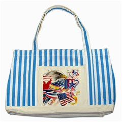 United States Of America Usa  Images Independence Day Striped Blue Tote Bag