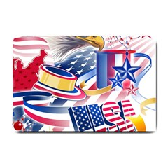 United States Of America Usa  Images Independence Day Small Doormat