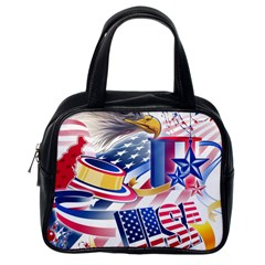 United States Of America Usa  Images Independence Day Classic Handbags (one Side)