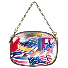 United States Of America Usa  Images Independence Day Chain Purses (two Sides)