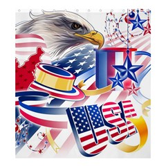United States Of America Usa  Images Independence Day Shower Curtain 66  X 72  (large)