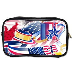 United States Of America Usa  Images Independence Day Toiletries Bags 2 Side