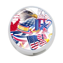 United States Of America Usa  Images Independence Day 4 Port Usb Hub (two Sides)