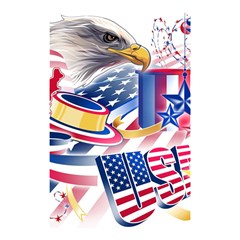 United States Of America Usa  Images Independence Day Shower Curtain 48  X 72  (small)