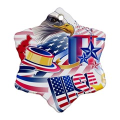 United States Of America Usa  Images Independence Day Ornament (snowflake)