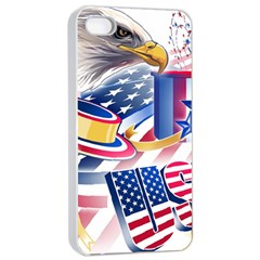United States Of America Usa  Images Independence Day Apple Iphone 4/4s Seamless Case (white)