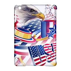 United States Of America Usa  Images Independence Day Apple Ipad Mini Hardshell Case (compatible With Smart Cover)