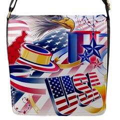 United States Of America Usa  Images Independence Day Flap Messenger Bag (s)