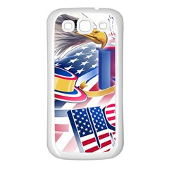 United States Of America Usa  Images Independence Day Samsung Galaxy S3 Back Case (white)