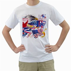 United States Of America Usa  Images Independence Day Men s T Shirt (white)