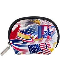 United States Of America Usa  Images Independence Day Accessory Pouches (small)