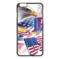 United States Of America Usa  Images Independence Day Apple Iphone 6 Plus/6s Plus Black Enamel Case