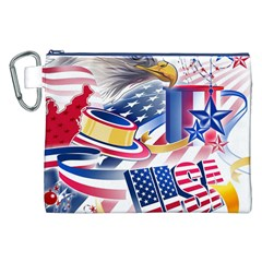 United States Of America Usa  Images Independence Day Canvas Cosmetic Bag (xxl)