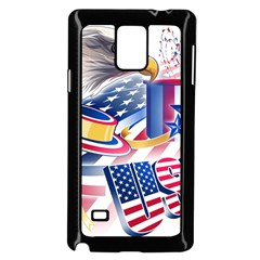 United States Of America Usa  Images Independence Day Samsung Galaxy Note 4 Case (black)