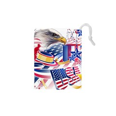 United States Of America Usa  Images Independence Day Drawstring Pouches (xs)