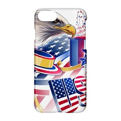 United States Of America Usa  Images Independence Day Apple Iphone 7 Hardshell Case