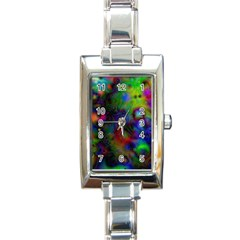 Full Colors Rectangle Italian Charm Watch