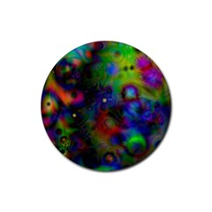 Full Colors Rubber Round Coaster (4 Pack)