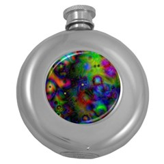 Full Colors Round Hip Flask (5 Oz)