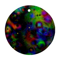 Full Colors Round Ornament (two Sides)